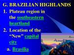 g brazilian highlands