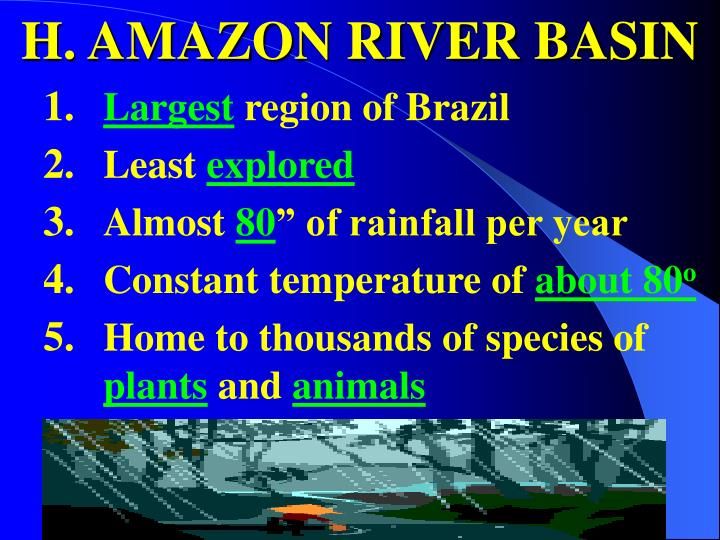 H. AMAZON RIVER BASIN