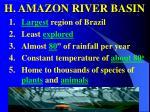 h amazon river basin