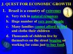 j quest for economic growth