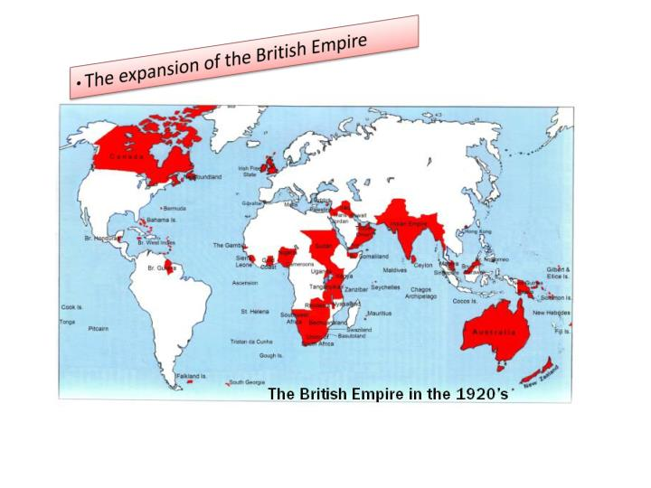 The expansion of the British Empire