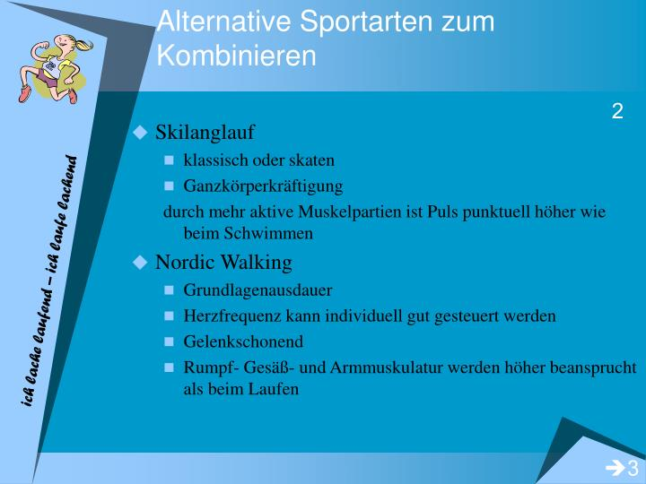 Alternative Sportarten zum Kombinieren