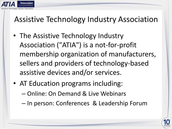 Assistive technology industry association
