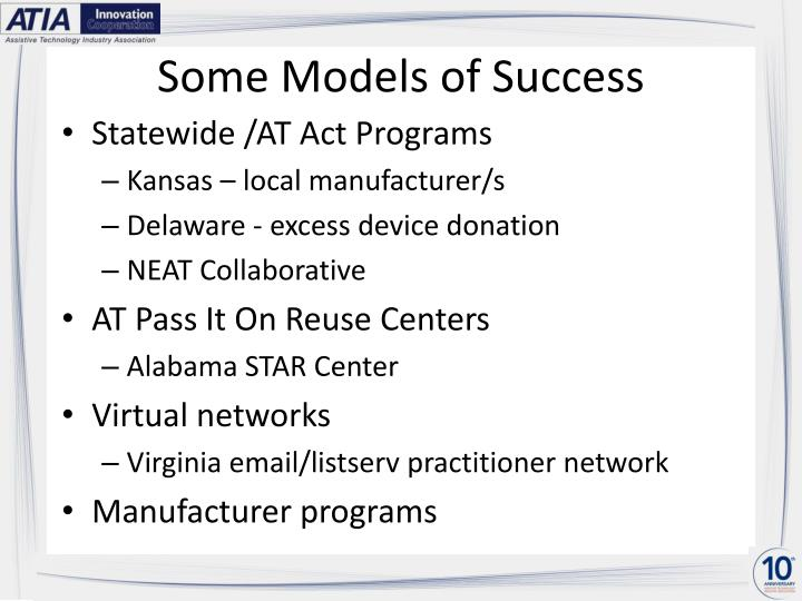 Some Models of Success