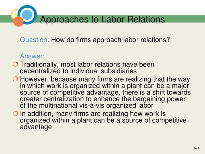 labor relations in international business essay [excerpt] in this essay, we reexamine a critical paradox in international and comparative industrial relations, a paradox that already decades ago demonstrated its ability to intrigue scholarly curiosity (galenson, 1952,1963 kerr et al, 1960.