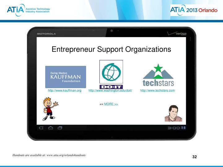 Entrepreneur Support Organizations