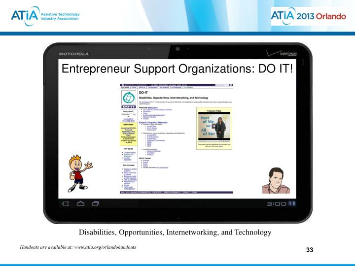 Entrepreneur Support Organizations: DO IT!