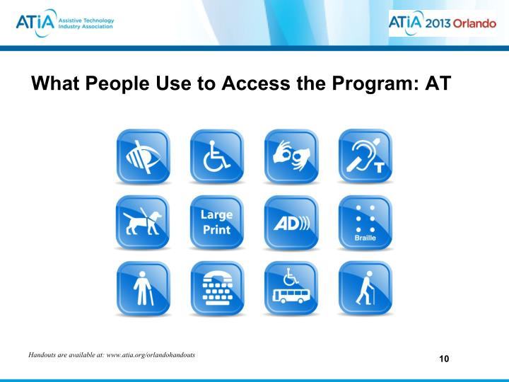 What People Use to Access the Program: AT