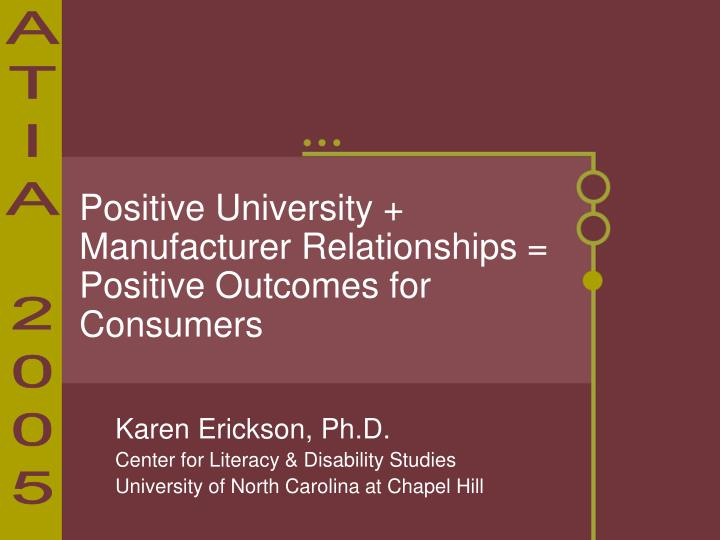 positive university manufacturer relationships positive outcomes for consumers