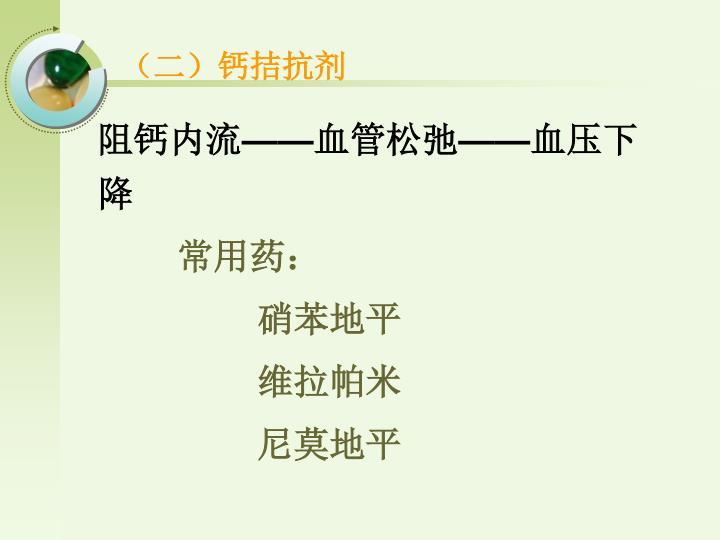 (二)钙拮抗剂