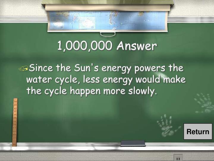 1,000,000 Answer