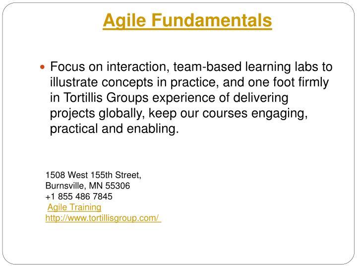 Agile Fundamentals