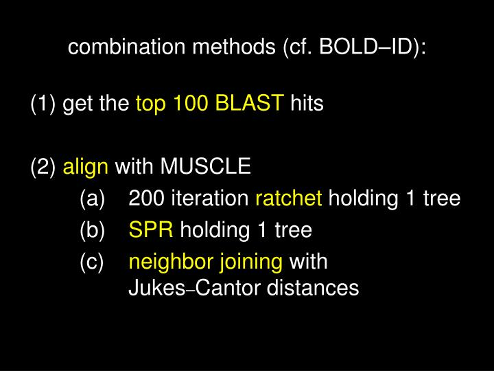 combination methods (cf. BOLD
