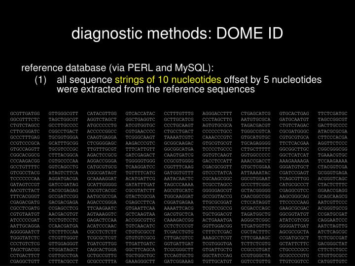 diagnostic methods: DOME ID