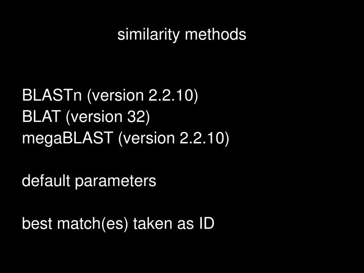 similarity methods