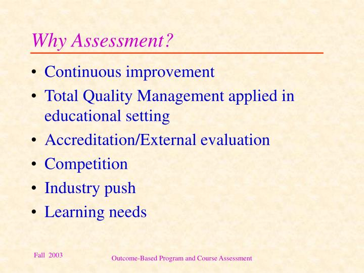 Why assessment1