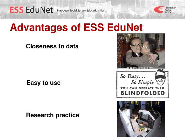 Advantages of ESS EduNet