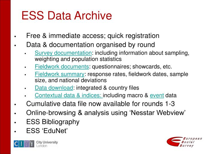 ESS Data Archive
