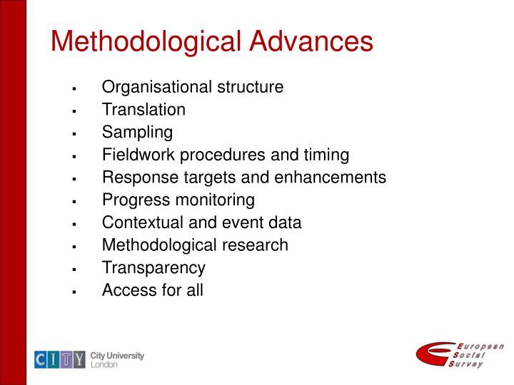 Methodological Advances