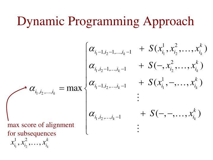 Dynamic Programming Approach