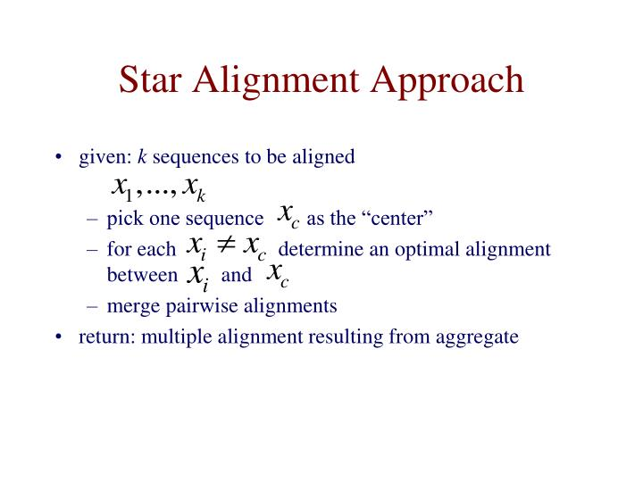 Star Alignment Approach