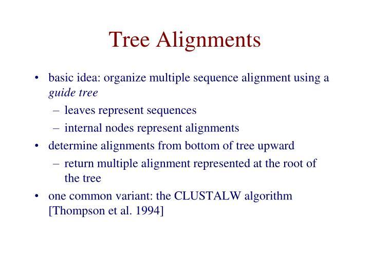 Tree Alignments