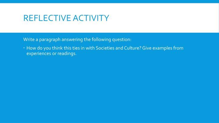 Reflective activity