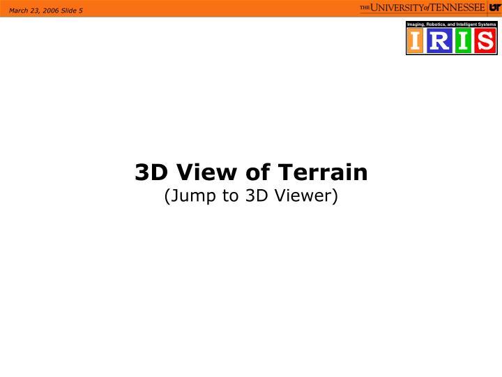 3D View of Terrain