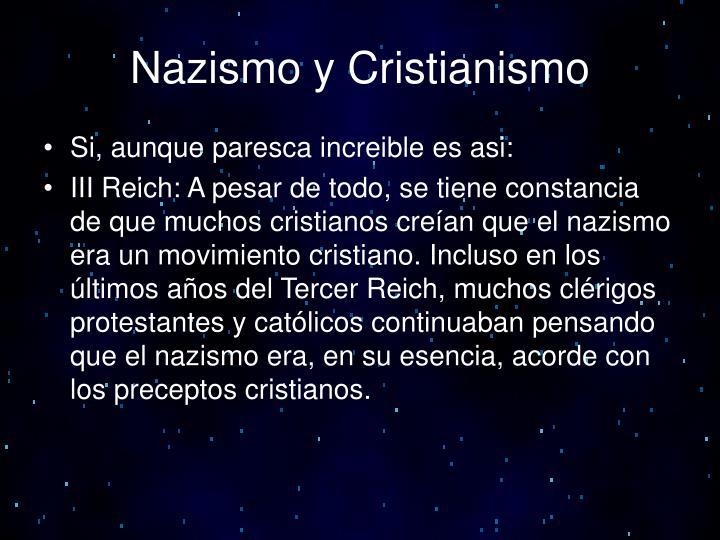 Nazismo y Cristianismo