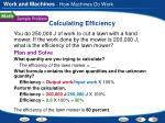 calculating efficiency1
