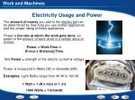 electricity usage and power