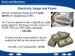 electricity usage and power1