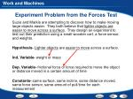 experiment problem from the forces test