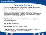 experiment problems