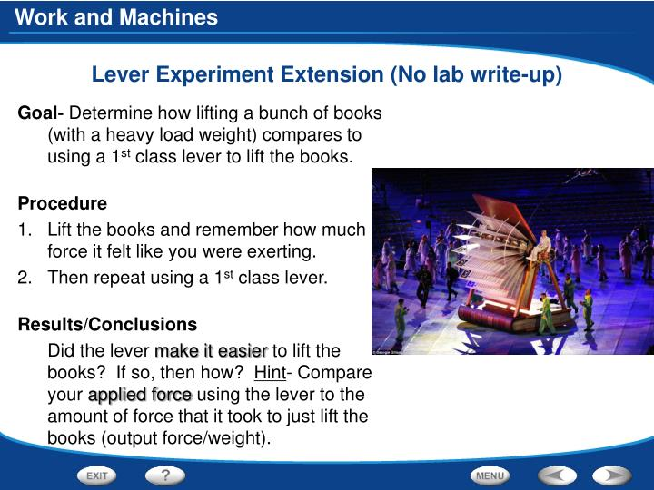 Lever Experiment Extension (No lab write-up)