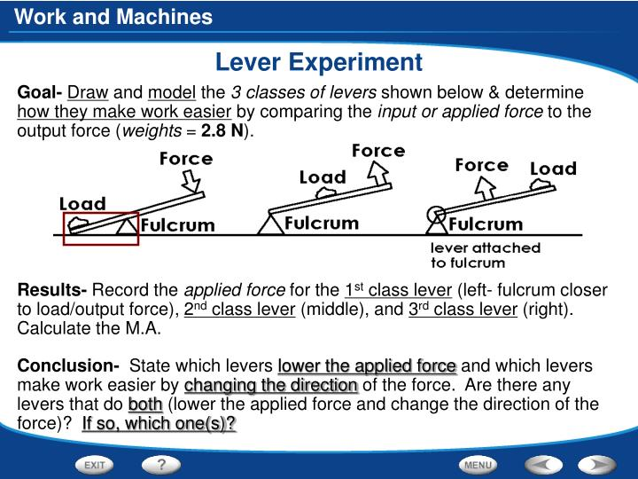 Lever Experiment