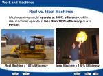 real vs ideal machines