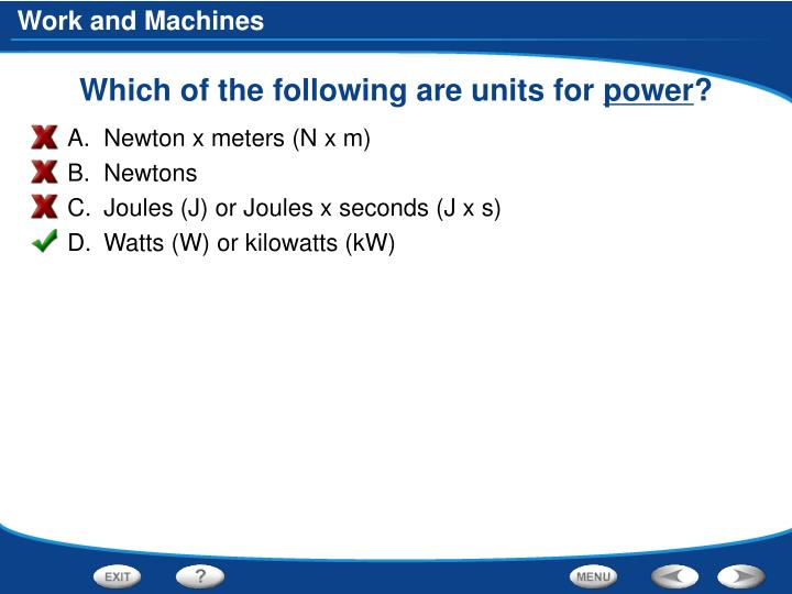 Which of the following are units for