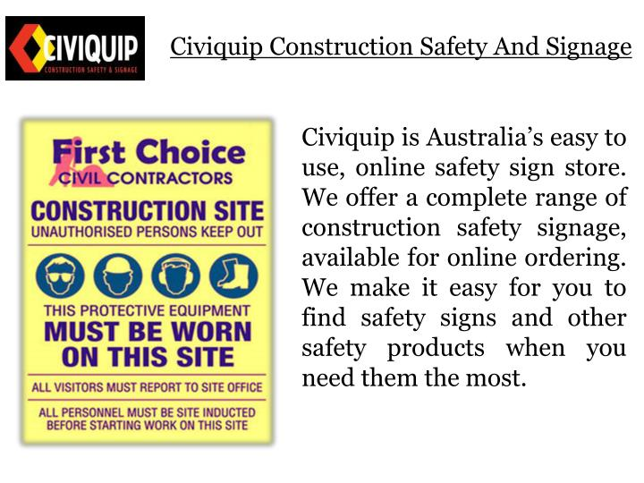 Civiquip construction safety and signage