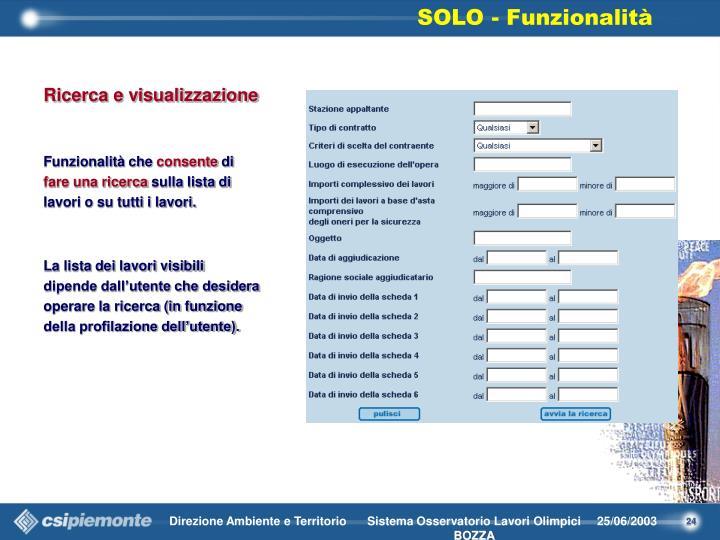 Ricerca e visualizzazione