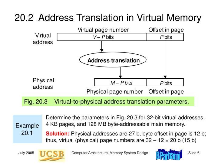 20.2  Address Translation in Virtual Memory
