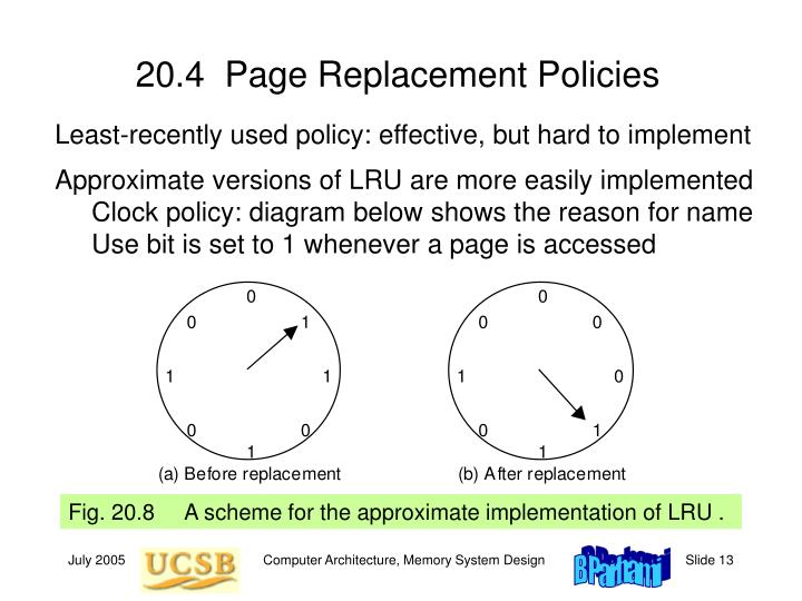 20.4  Page Replacement Policies