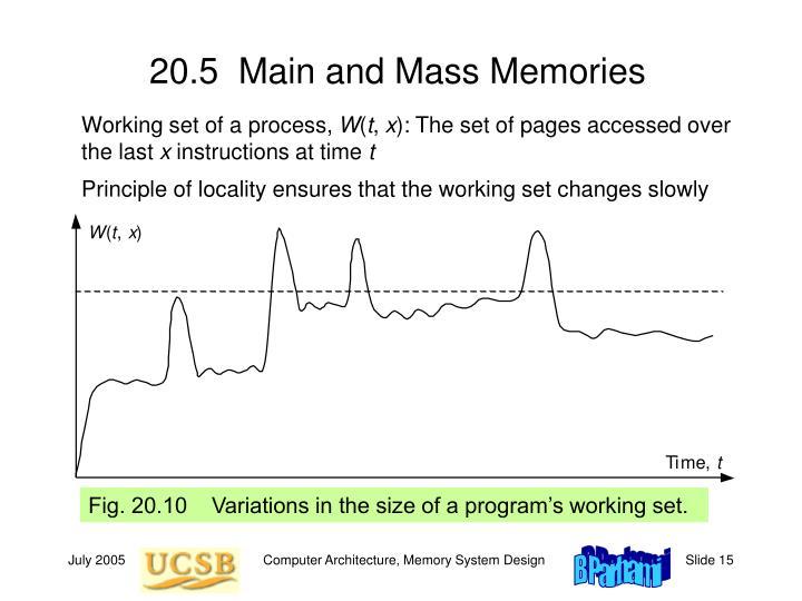 20.5  Main and Mass Memories