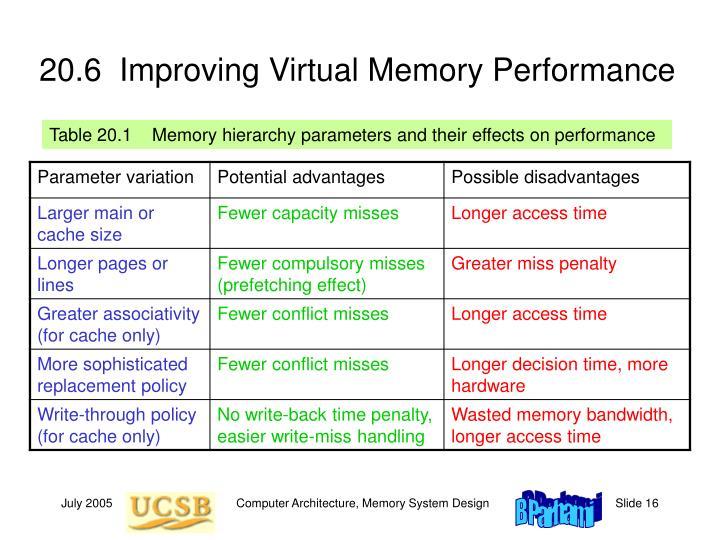 20.6  Improving Virtual Memory Performance