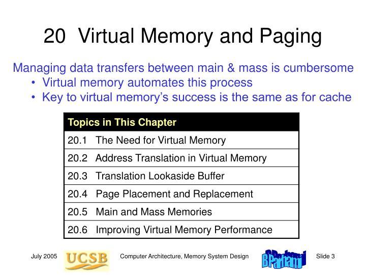 20  Virtual Memory and Paging