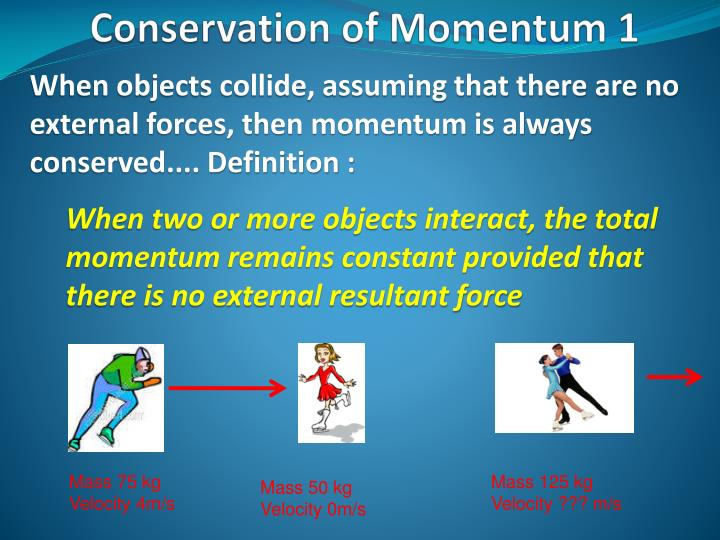 Conservation of momentum 1