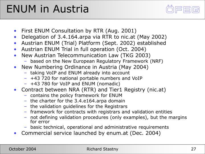 ENUM in Austria