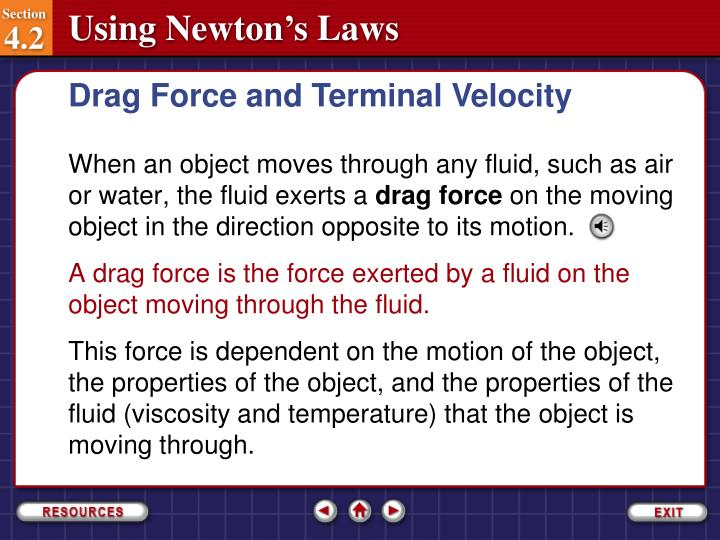 Drag Force and Terminal Velocity