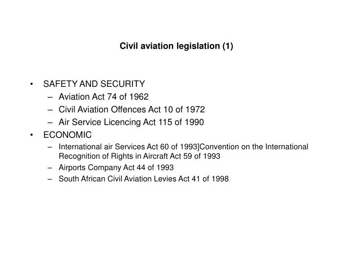 Civil aviation legislation (1)