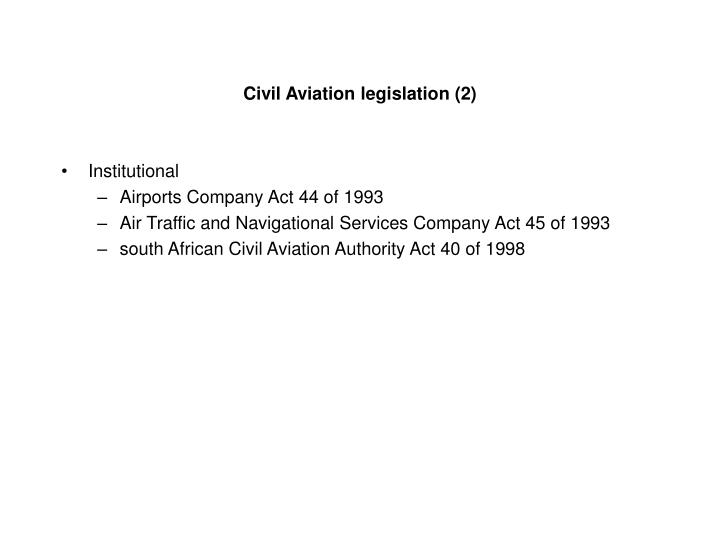 Civil Aviation legislation (2)